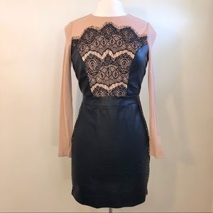 Venus Pink and Black Mini Dress